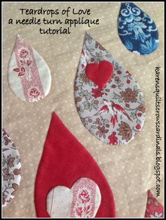 Karen's Quilts, Crows and Cardinals: Teardrops of Love