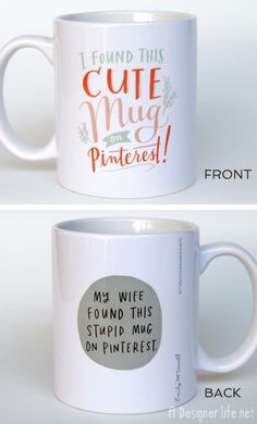 Awesome Products: I found this cute mug on Pinterest - A Designer Life