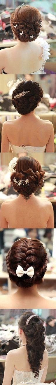 Love this hair look. #hairstyles #weddingbeauty
