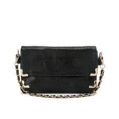 Fashion Shinning Chain Shoulder Purse Black $64