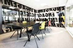 Corporate office designed by Metropolis arkitektur & design. Corporate Office Design, Mars, Conference Room, Table, Furniture, Home Decor, Decoration Home, March, Room Decor