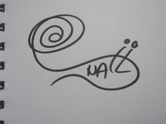 "Picturesque signature for the nickname ""SNAIL"""