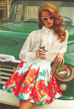 Lana Del Rey #LDR // I want the poppy skirt                                                                                                                                                                                 More