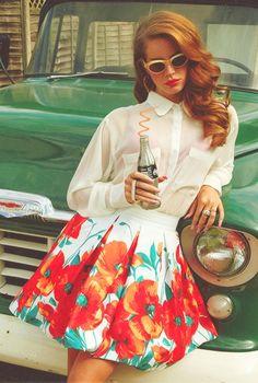 Lana Del Rey #LDR // I want the poppy skirt                                                                                                                                                                                 More
