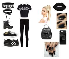 """""""Black Soul"""" by lwhitaker9999 ❤ liked on Polyvore featuring Gucci, Steve Madden, Converse, adidas, Boohoo and Marc Jacobs"""