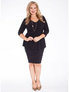 A modern and sexy update of the on-trend peplum top, our Kloey Top boasts a feminine silhouette that you'll love to wear this fall! The V-neck bodice and emphasized waistband evoke classic glamour that can be easily dressed up or down. Pair with our Olivia Skirt for a great wear to work option or pair with denim for a chic weekend look.