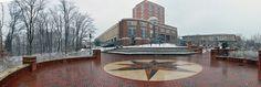 Atkins Library snow panorama, 2014 #UNCC