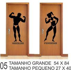 adesivo porta de banheiro masculino e feminino personalizado - Franco da Rocha