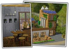 Eco-Café - Part 1 by Sandy at Around the Sims - Sims 3 Finds