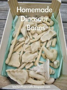 Cheap decor!Kitchen Floor Crafts: Homemade Dinosaur Bones