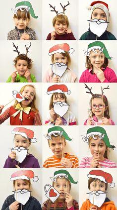 deko weihnachten foto ideen geschenk fotokabine selber bauen accessoires masken #weihnachtsdeko #ideen #christmasdecorations