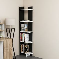 Lorena Ladder Corner Unit Bookcase