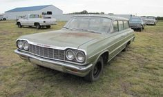 1964 Chevrolet Bel Air wagon Photo by: VanDerBrink Auctions - Fix the mechanical bit and leave the body the way it is! Very cool!