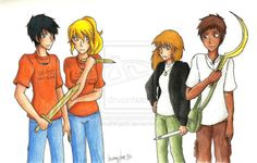 """The Kanes meet Percy Jackson and Annabeth!!  So, the other day, we met these really cool people. And that lad looks cute. [Carter, I told you NOT to smirk when I compliment other boys, okay?]""""  """""""