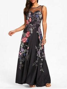 GET $50 NOW   Join RoseGal: Get YOUR $50 NOW!https://www.rosegal.com/maxi-dresses/floral-print-mesh-panel-maxi-dress-2063674.html?seid=4695937rg2063674
