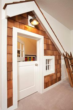 Under the stairs New England style playhouse