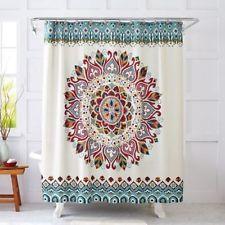 Boho Retro Vintage Hippie Fabric Shower Curtain Medallion Bathroom Fashion