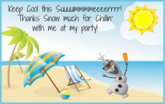 Designed on picmonkey.com to use as Disney Frozen Olaf in summer party favor tags on ice pops! Cheap and easy favor! Save this image and add you child's name to the tag in picmonkey for free and print. ;) I printed them wallet size.