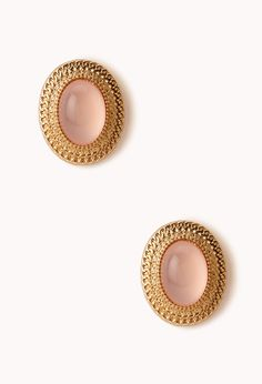 Retro Natural Stone Clip-On Earrings | FOREVER21 - 1000072399