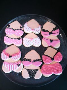Lingerie Sugar Cookie. $36.00, via Etsy.