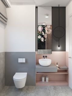 Most up-to-date Photo Small Bathroom pink Suggestions Smaller bathrooms usually are difficult design. On the other hand, as they are sleek and stylish, yo Luxury Hotel Bathroom, Hotel Bathroom Design, Modern Bathroom Design, Bathroom Renovations, Bathroom Designs, Pink Bathroom Tiles, Downstairs Bathroom, Grey Bathrooms, Small Bathroom