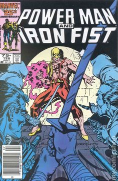Power Man and Iron Fist # 124 by Keith Pollard & Bob Layton Marvel Comic Books, Marvel Characters, Marvel Comics, Iron Fist Powers, Iron Fist Comic, Luke Cage Marvel, Heroes For Hire, Power Man, Star Wars Comics