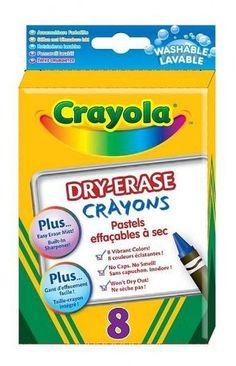 amazoncom crayola 8ct dry erase crayons large size toys games