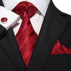 Red Stripe Necktie Set JPM18A80
