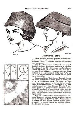 Hat Patterns To Sew, Vogue Sewing Patterns, Vintage Sewing Patterns, Millinery Hats, Pattern Drafting, Hat Making, Fascinators, Headpieces, Dressmaking