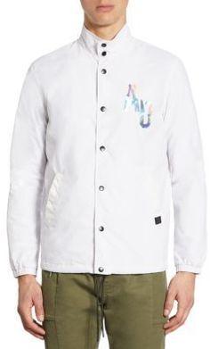 Saks Fifth Avenue x Anthony Davis Coaches Gallery Graphic Print Jacket