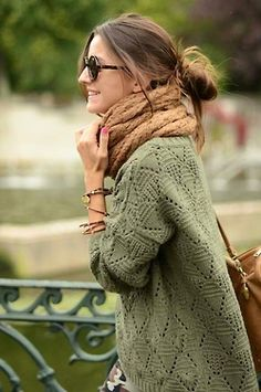 sweater and scarf (: