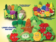 The kids love the garden heroes they have (Carla Cranberry, Buddy Broccoli and Brianna Banana). Must get more. Tooth fairy gifts?