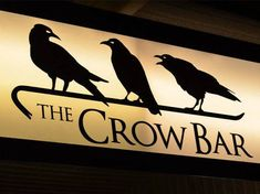 The Crow Bar Halloween Raven, Crow Painting, Quoth The Raven, Counting Crows, Man Cave Art, Crow Art, Crows Ravens, Pub Signs, Bar Art