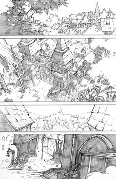 Environment Sketch, Environment Design, Comic Book Artists, Comic Books Art, Comic Book Layout, Background Drawing, Perspective Drawing, Comic Drawing, Wow Art