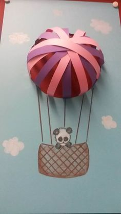 This is a very interesting piece of craft which I can make in my little girl's room Summer Crafts, Fun Crafts, Diy And Crafts, Crafts For Kids, Arts And Crafts, Paper Crafts, 3d Paper, Projects For Kids, Craft Projects