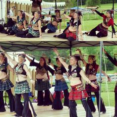 This past April at the Minden Tartan Festival. Raining, dancing with swords in kilts, yeah we can do that. We love doing that.  #inmymelos #sportkilt #portbellyproject #tribal #tribalfusion #bellydance #bellydancer
