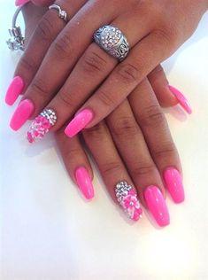 pink gel by Ettennae - Nail Art Gallery nailartgallery.nailsmag.com by Nails Magazine www.nailsmag.com #nailart