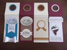 Sconebeker Stempelscheune - Stampin up Sets : Weinflaschenanhänger, Flaschenanhänger, Tuscan Vineyard, Nette Etiketten,