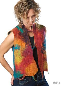 NUNO FELTED TOPS, TUNICS, VESTS, AND SCARF ACCESSORIES