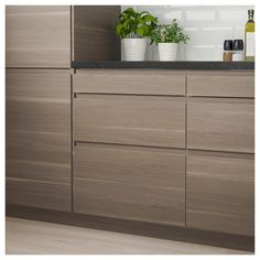 Official Website - IKEA - VOXTORP, Drawer front, walnut effect, VOXTORP is a smooth door with integrated handles. It brings clean lines and an open, modern look to your kitchen. The depth of the handle makes it easy to open and close the drawer. Kitchen Buffet, Modern Kitchen Cabinets, Kitchen Shelves, Modern Kitchen Design, Rustic Kitchen, Kitchen And Bath, Kitchen Furniture, Kitchen Interior, Kitchen Ideas