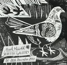 Mark Hearld at the Scottish Gallery, 2010 Don Delillo, Glasgow School Of Art, Linoprint, Up Book, Linocut Prints, Mail Art, Print Artist, White Art, Bird Art
