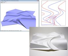 ORI-REF: A Design Tool for Curved Origami based on Reflection  I developed the software for designing curved origami consisted with a planer curved folds based on reflection. Now the software is freely available at: mitani.cs.tsukuba.ac.jp/ori_ref/