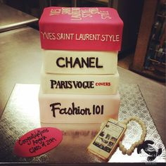 Fashion-Inspired Graduation Cake by Beverly's Bakery