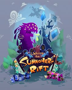 Welcome ot Summoner's Rift by inkinesss. I need this as a print.