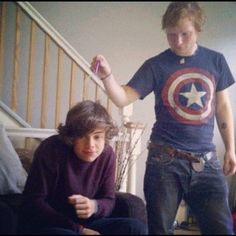 The most adorable dorks on the planet. Couldn't put your pants back on before this picture