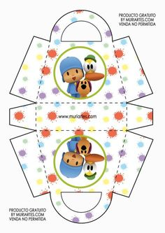 Imprimibles Pocoyo - www.susaneda.com Party In A Box, Party Kit, Diy Party, Party Ideas, Baby 1st Birthday, 2nd Birthday Parties, Themed Parties, Birthday Ideas, Bricolage Baby Shower