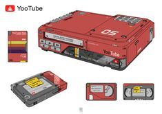 manchester-based artist and illustrator sheng lam has reimagined some of biggest social media platforms and media sites as retro gadgets. Arte Cyberpunk, Cyberpunk Aesthetic, Futuristic Technology, Art Et Illustration, Illustrations, Tech Gadgets, Technology Gadgets, Sci Fi, Polaroid