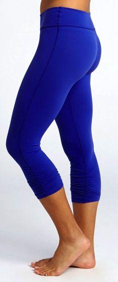 BEYOND YOGA Essential Gathered Legging in Isis Blue
