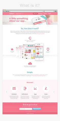 Pregnancy.hr App Teaser website by Krešimir Kraljević, via Behance