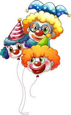 clown balloons clipart